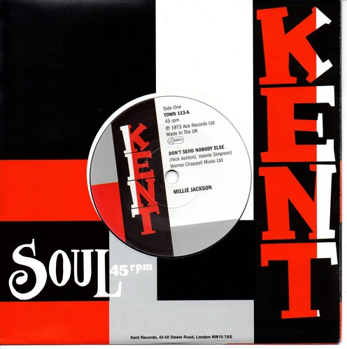 """Millie Jackson - Don't Send Nobody Else / Mayberry Movement - Two Wrongs Don't Make A Right 45 (Kent) 7"""" Vinyl"""
